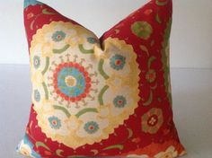 Gold, Orange, Red, Olive,Pillows, Throw Pillows, Decorative Throw Pillow Cover,  Designer Fabric On Both Sides   invisible Zipper Closure by DEKOWE on Etsy https://www.etsy.com/listing/213147660/gold-orange-red-olivepillows-throw