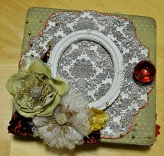 Christmas 6x6 mini chipboard album by SoScrappyHappy on Etsy, $22.00