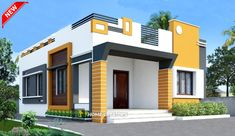 House Outer Design, House Arch Design, House Outside Design, Kerala House Design, Small House Design, 2 Bedroom House Design, Pooja Room Design, Front Elevation Designs, House Elevation