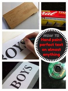 How to Paint Perfect Lettering