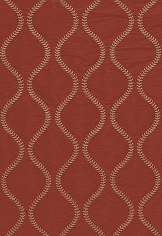 Fabric | Agadir Embroidery in Spice | Schumacher
