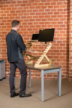 Readydesk - affordable standing desk, portable, lightweight, and adjusts to your height