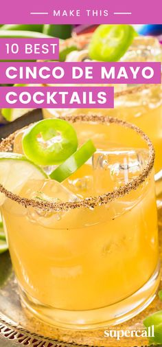 Celebrate Cinco de Mayo with one of these drinks in hand. Fun Cocktails, Cocktail Drinks, Fun Drinks, Cocktail Recipes, Drink Recipes, Beverages, Easy Mixed Drinks, 21st Bday Ideas, Margarita Mix
