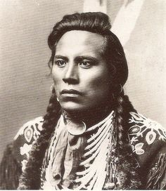 """Ashishishe, aka """"Curly,"""" a Crow scout for the US Army, and one of the survivors of Little Big Horn who gave a famous account of the defeat of Custer's battalion."""