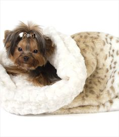 Cream Lynx Dog Bed Cuddle Cup
