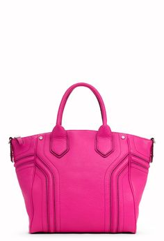 I just got this. Yay! Zoey Milly Leather Handbags - Hot Pink Zoey Collection Tote