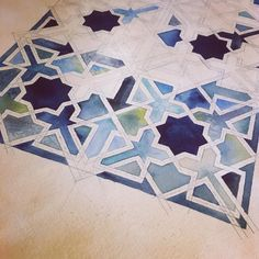"24 Likes, 7 Comments - @feckuls on Instagram: ""Four hours later.......30 shapes done. Pattern can be found at the Madrasa Bou Inania in Fes, .…"""