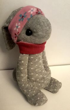 Adorable bunny made out of socks!