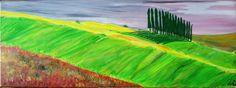 tuscany green Öl auf Leinwand ( Originalbild) 80 x 30 cm | KunstiX