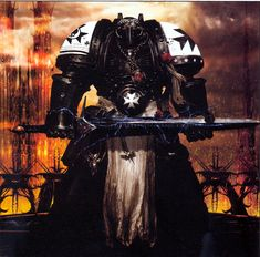 Warhammer 40k: A Black Templar.
