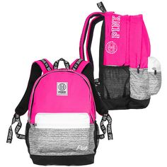 Campus Backpack PINK (€49) ❤ liked on Polyvore featuring bags and backpacks