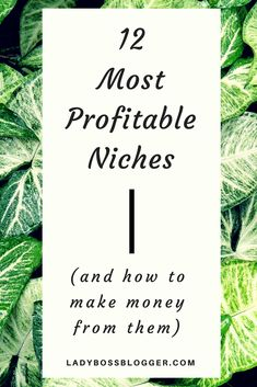 12 Most Profitable Blogging Niches on #ladybossblogger #blog #blogtips #bloggingtips #blogger #ladyboss #niche #niching #nichedown #profitable #money #moneyblogger #blogformoney #moneymaker #blogniche #nicheblog #bloggingtools #blogtools #business #onlinebusiness