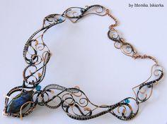 Merina- wire wrapped necklace, labradorite, handmade, copper