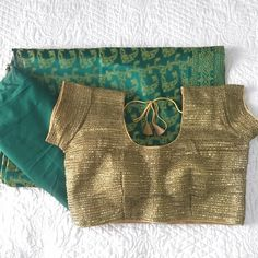 Turquoise Green & Gold Sari dress (3 piece set) I bought this and only used it once for a wedding I attended. It's practically new. This set includes a draw string (adjustable) green skirt, a gold top, and the beautiful green sari wrap that wraps around you. Other