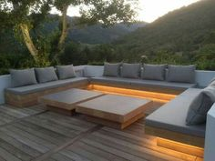 New Backyard Pool Diy Outdoor Lighting Ideas Outdoor Lounge, Outdoor Seating, Outdoor Spaces, Outdoor Living, Outdoor Decor, Outdoor Couch, Outdoor Cushions, Backyard Seating, Garden Seating