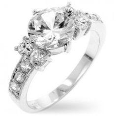 J Goodin Cubic Zirconia Gypsy Ring Size 10