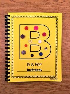 Alphabet Book - Tactile by ChalkDots Alphabet Party, Alphabet Crafts, Alphabet Books, Preschool Classroom, Preschool Crafts, Preschool Ideas, Preschool Letters, Fun Crafts, Kindergarten Art Projects
