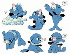 After posting my recent Rowlet doodle sheet I was asked if I could make one for other Alola starters, soooo here's Popplio! I also made sticker sets from them on redbubble