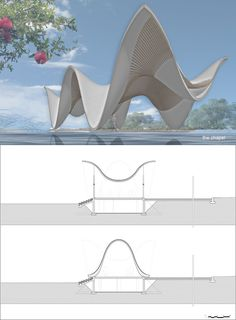 Architecture firm Steyn Studio have designed a sculptural and modern chapel, located within a vineyard in Western Cape, South Africa, that's surrounded by a valley and mountains. Biomimicry Architecture, Architecture Concept Drawings, Pavilion Architecture, Futuristic Architecture, Architecture Details, Roman Architecture, Residential Architecture, Landscape Architecture, Pavillion Design