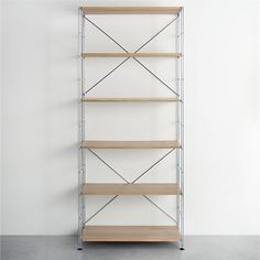 MAX Chrome 6-Shelf Unit with Wood Shelves in Laundry | Crate and Barrel