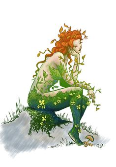 Comic Book Character Poison Ivy Print US$ 10