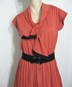 Vintage 70s Dress Kay Windsor Burnt Orange& by vintageandmore, $32.00