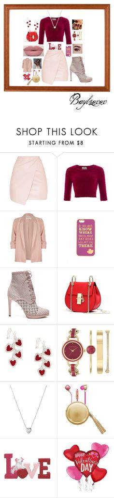 """""""Happy Valentine's Day!"""" by baylzxoxox ❤ liked on Polyvore featuring Collectif, River Island, Too Faced Cosmetics, Disney, Zimmermann, Anne Klein, Links of London and The Macbeth Collection"""