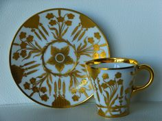 Porcelain cup and saucer set by Richard Klemm, Dresden, Germany 1891-1914