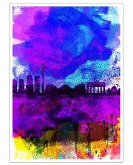 Berlin Watercolor Skyline-Poster