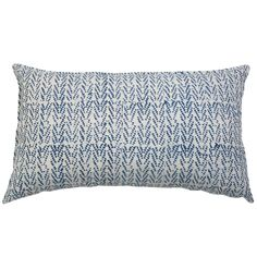 """Pom Pom At Home Indigo Dots Pillow  20"""" x 36"""" with insert $115"""