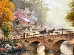 Hometown Bridge by Thomas Kinkade