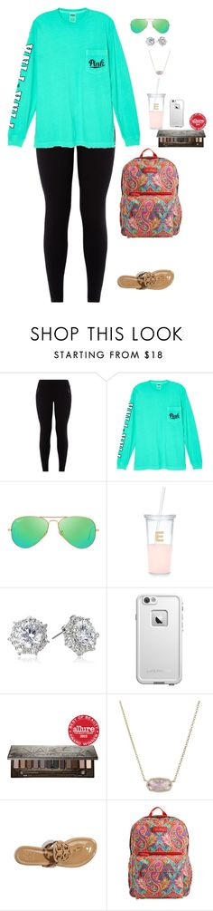 """""""I'm not perfect but I'm real """" by jackelinhernandez ❤ liked on Polyvore featuring Victoria's Secret, Ray-Ban, Kate Spade, CZ by Kenneth Jay Lane, LifeProof, Urban Decay, Kendra Scott, Tory Burch and Vera Bradley"""