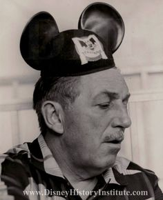 Walt Disney in his Mickey Mouse ears.