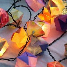 origami christmas light covers