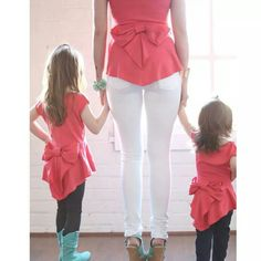 Mommy and me outfits...I always try to match my girls