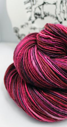 RESERVED for Carol Handspun Yarn Gently Thick and Thin DK Single Corriedale 'Scorched Heart'