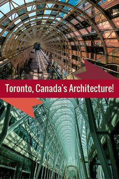 Toronto, Canada has some amazing architecture that you shouldn't miss if you're planning travel there. Such pretty modern glass designs!