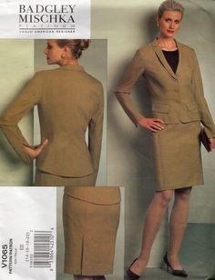 Vogue 1065 Designer Badgley Mischka Platinum High Fashion Suit Jacket Skirt Blouse Couture Sewing Pattern Size 14 16 18 20 Bust 36 38 40 42 by LanetzLiving on Etsy