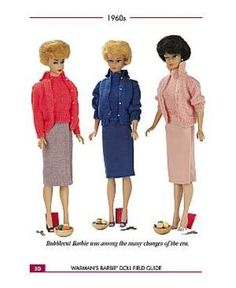 Barbie 1960's. Barbie was first introduced in 1959. In 61, Barbie got a boyfriend!!