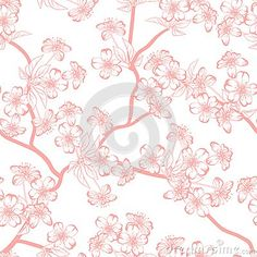 Cherry Blossom Vector Background. (Seamless - Download From Over 34 Million High Quality Stock Photos, Images, Vectors. Sign up for FREE today. Image: 51057756