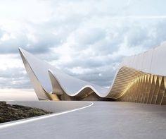 Formas abstratas do museu conceito pelo designer Roman Vlasov. @_vlasov_roman_ | Abstract forms, Museum Concept by Roman Vlasov.