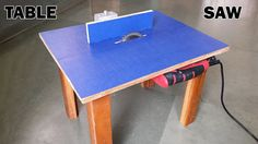 """DIY: Learn how to make a homemade drill powered table saw using 5"""" circular saw blade. Warning: Do not perform any experiments shown here without the supervi..."""