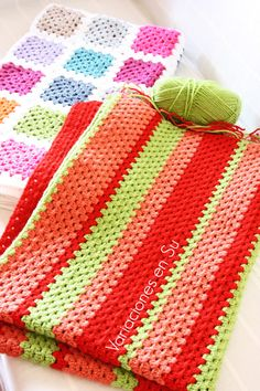 Granny stripes blanket in progress.