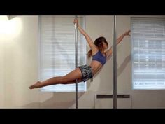 teardrop to superman (one-handed) - advanced pole dance combo - YouTube