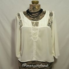 "*NEW NWOT* Cream Blouse by Willi Smith size S *NEW NWOT* Cream Blouse by Willi Smith size S. This blouse is sheer and has pretty lace detail. 100% Polyester.   Waist: 18"" Length: 20""  Please let me know if you have questions. Happy Poshing! Willi Smith Tops Blouses"