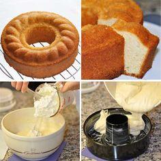 Un delicioso bizcocho de nata y vainilla que envés de mantequilla lleva nata montada. Cupcakes, Cupcake Cakes, Bundt Cakes, Angel Food Cake, Homemade Cakes, Cornbread, Doughnuts, Sweets, Chocolate