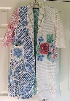 HANDMADE CHENILLE Robe Bathrobe From VINTAGE 1940 s 50 s Bedspread Fabrics  Chenille Crafts 64d5c74bb