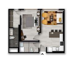 House Floor Design, Small House Design, Modern House Design, Home Room Design, Home Design Plans, Small House Floor Plans, House Plans, Apartment Floor Plans, Property Design
