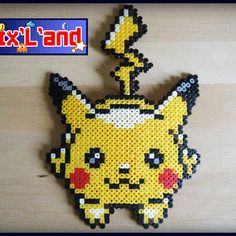 Pikachu effectue en perles hama midi