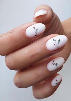 Colorful Nail Designs, Short Nail Designs, Acrylic Nail Designs, Short Almond Nails, Summer Nails Almond, Almond Nails Designs Summer, Cute Almond Nails, Minimalist Nails, Pretty Nails